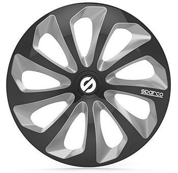 Sparco Sicilia SPC1673BKSV 16-Zoll - schwarz, silber(4 Stück)