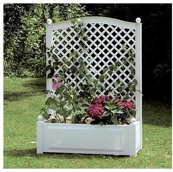 KHW Pflanzkasten mit Spalier 100 x 140 cm weiß