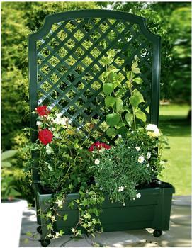 KHW Pflanzkasten mit Spalier 79 x 135 cm grün