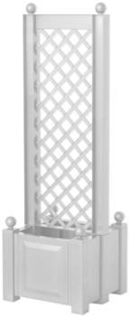KHW Pflanzkasten mit Spalier zentral 43 x 140cm weiß