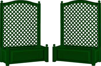 KHW Pflanzkasten mit Spalier 100 x 140 cm grün - 2er Set