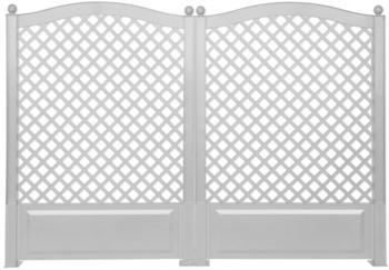 KHW Spalier 100 cm weiß - 2er Set