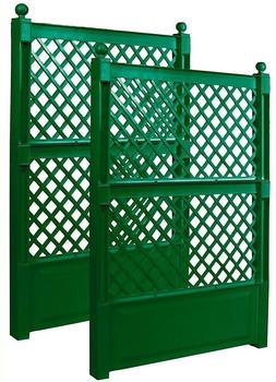 KHW Spalier 100cm mit Erdspieß grün 2er Set (47723)