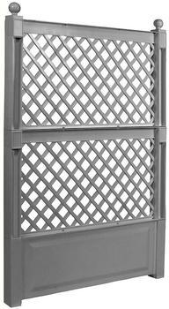 KHW Spalier 100cm mit Erdspieß grau (47702)