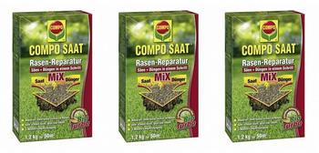 Compo Saat Rasen-Reparatur Mix 1,2 kg 3er Set für 150 m² (10265-B)