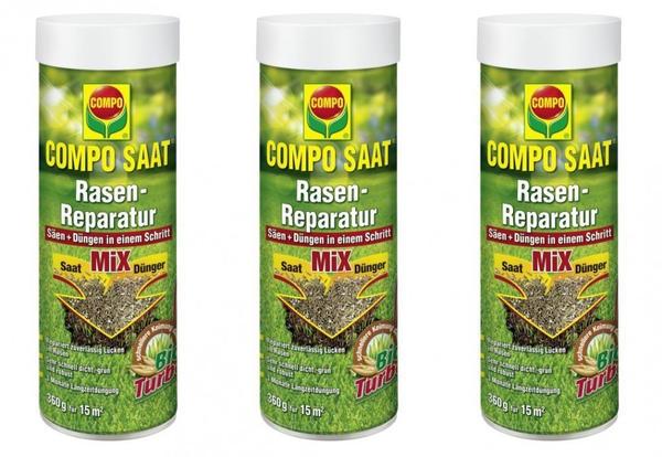 Compo Saat Rasen-Reparatur Mix 360 g 3er Set für 45 m² (21796-B)