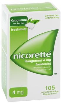 nicorette 4 mg Freshmint Kaugummi (105 Stk.)