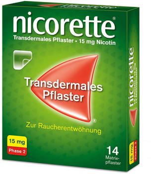 nicorette TX Pflaster 15 mg (14 Stk.)