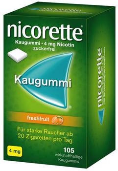 nicorette 4 mg Freshfruit Kaugummi (105 Stk.)