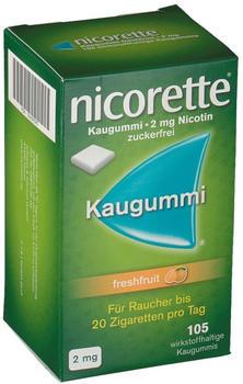 nicorette 2 mg Freshfruit Kaugummi (105 Stk.)