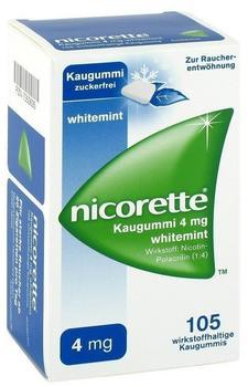 nicorette Kaugummi 4 mg whitemint (105 Stk.)