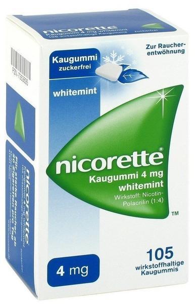 Nicorette Whitemint 4 mg Kaugummi 105 St.