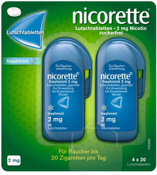 Nicorette freshmint 2 mg Lutschtabletten (80 Stk.)