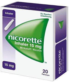 nicorette Inhaler 15 mg Patronen + Mundstück (20 Stk. + 1 Stk.)