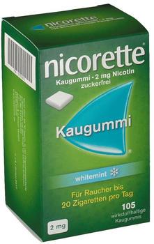 nicorette Kaugummi 2 mg whitemint (105 Stk.)