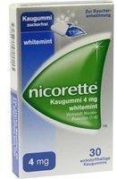 Nicorette Whitemint 4 mg Kaugummi 30 St.