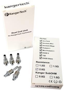 Kangertech Upgrade Dual Coil Verdampferkopf V2 1.8 Ohm 5 St. Set