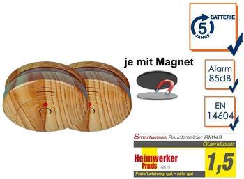 smartwares RM149H-5J Holzoptik inkl. Magnetmontage 2 St.