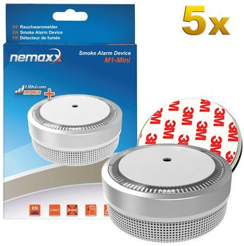 Nemaxx M1-Mini silber inkl. Magnethalterung 5 St.