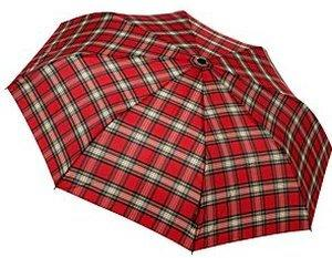 Knirps 865 Minimatic Light red check