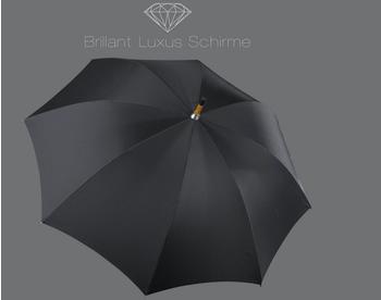 Euroschirm Brillant Luxus Gents 93 cm black (8 Schienen)