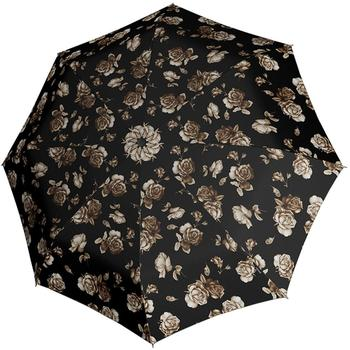 Knirps Fiber T2 Duomatic florals roses black