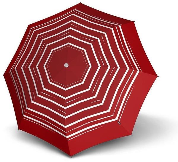 Knirps Long AC stripe art red
