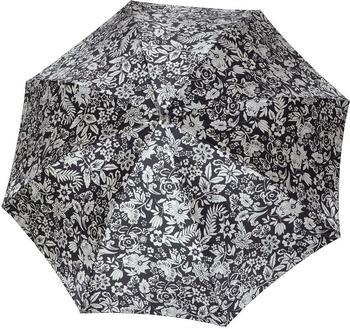 Doppler Langschirm Carbonsteel Imperial schwarz mit Blumenmuster