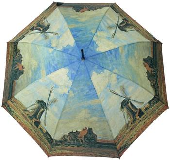 Doppler Langschirm Windmühle terra/blau