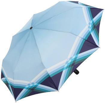 Doppler Taschenschirm Carbonsteel Cross Over blau