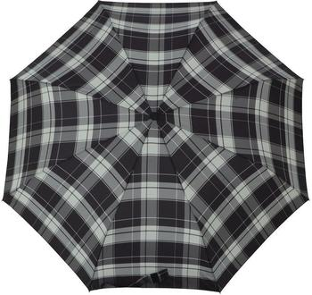 Doppler Taschenschirm Carbonsteel Mini karo grau