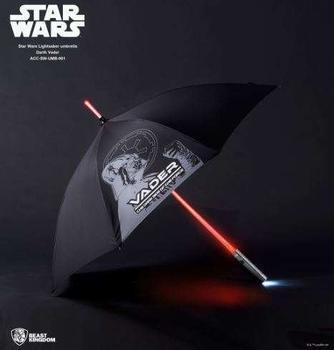 Undercover Star Wars Darth Vader Lichtschwert Regenschirm mit Leuchtfunktion schwarz