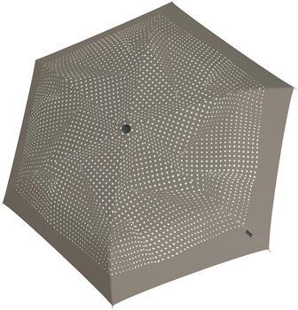 Knirps TS.200 Slim Medium Duaomatic Dots taupe