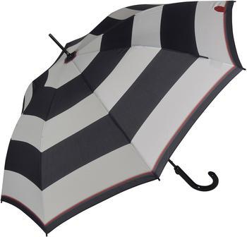 Knirps Stockschirm T703 Damen schwarz weiß Streifen