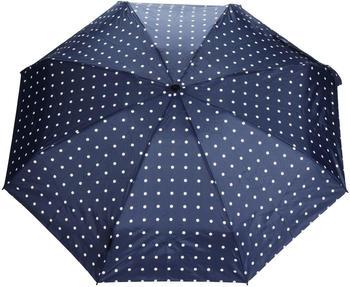 Knirps Pocket Umbrella T.010 Manual Dots kelly dark navy