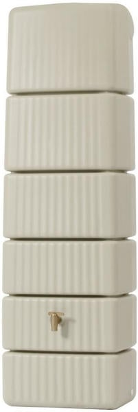 4rain Säulen-Wandtank Slim sandbeige 300L