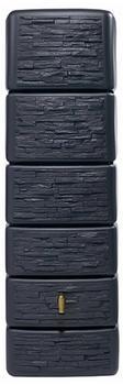 4rain Säulen-Wandtank Slim stone dekor 300 Liter - graphite grey