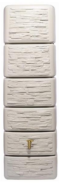 4rain Säulen-Wandtank Slim 300 Liter sandbeige