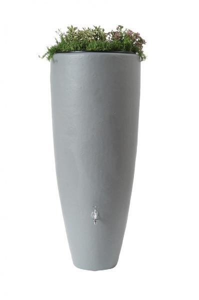 Garantia 2in1 Wasserbehälter mit Pflanzschale 300 Liter steingrau (326111)