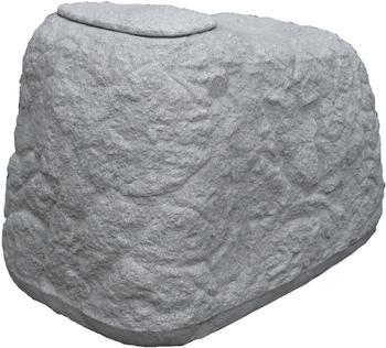 GreenLife Regentonne Findling 500 Liter - granitgrau
