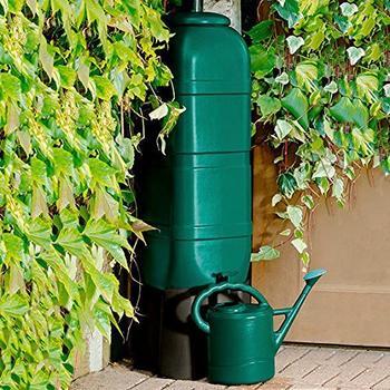 Gärtner Pötschke Regentonne grün mit Sockel, 100 Liter