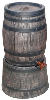 Roto Regentonne inkl Sockel 50 L Ø 45cm Holz-Optik braun (274127)