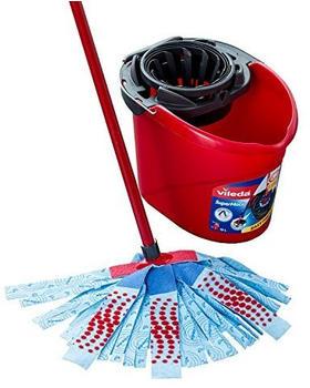 Vileda SuperMocio XL 3 Action Mop und Eimer Set, Plastik, Red/Grey/Blue, 6 x 15 x 117 cm