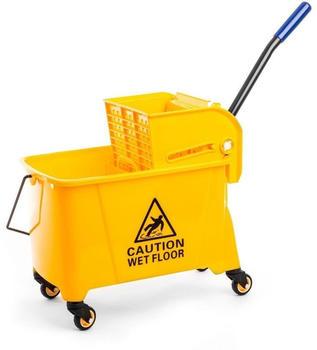 bergland-kunststoff-reinigungswagen-mit-auspresser-20-liter-gelb