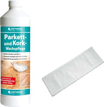 Hotrega Parkett und Kork Wachspflege SET + Microfasermopp 40 cm - 4751