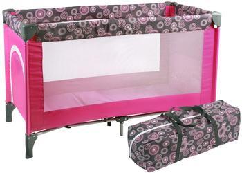 Chic 4 Baby Reisebett Luxus Hot Pink Pearls
