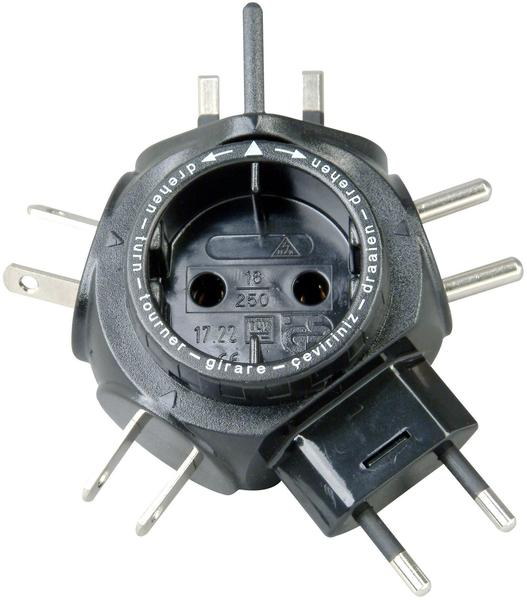 Kopp Travel Star Adapter, schwarz (1722.0501.2)