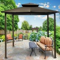 "Paragon Outdoor Stoffpavillon ""Kingsbury"",grau,330 x 450 x 289,5 cm (L x B x H)"