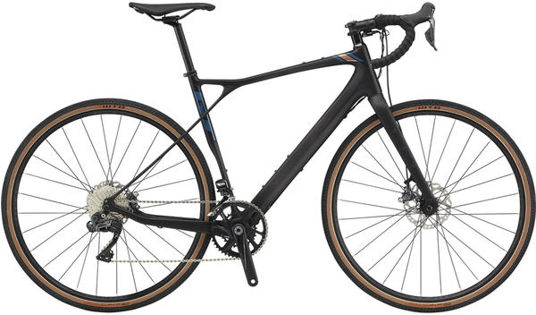 GT Bicycles Grade Carbon Pro Herren satin black/copper/dusty blue 61cm (28