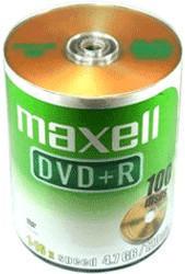 Maxell DVD+R 4,7GB 120min 16x 100er Bulk Spindel